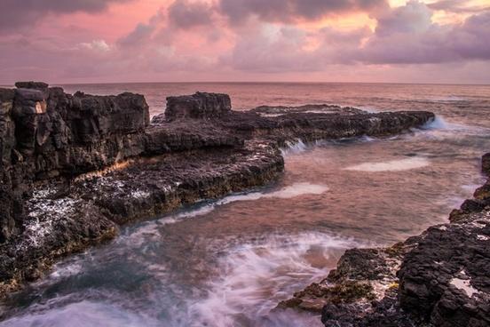 coast coastline dramatic dusk evening geology