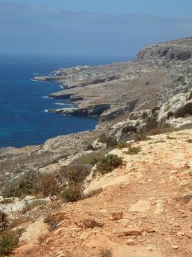 coast line mediterranean rocky coast