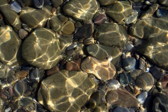 coast stones underwater