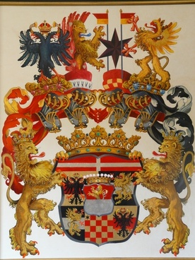 coat of arms painting colorful