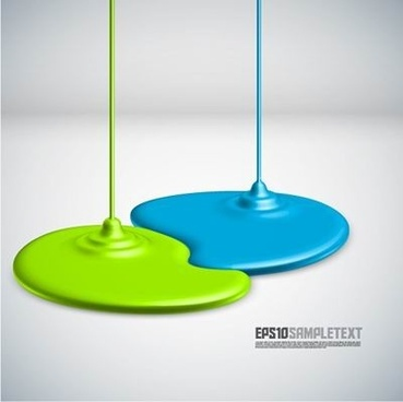coating dripping shape design background vector 1