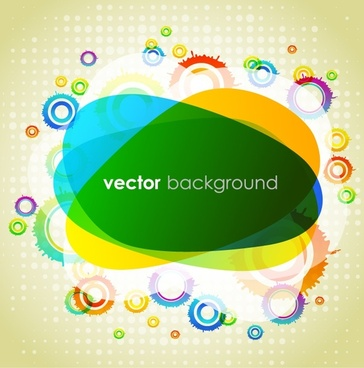 abstract background template modern colorful circles colors blended