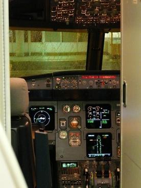 cockpit flight deck aircraft