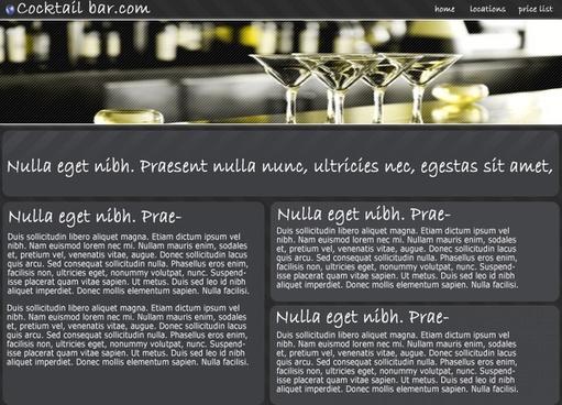 Cocktail Bar – Free PSD Template
