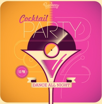 cocktail party poster retro