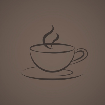 coffe cup logo icon vector