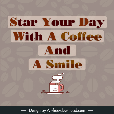 coffee advertising banner quotation sentence blurred decor