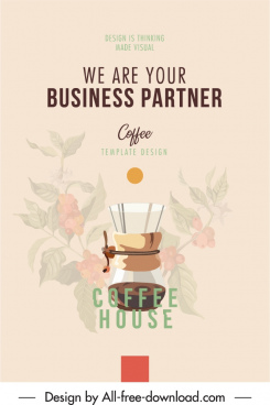coffee advertising poster elegant blurred classic design