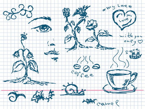 coffee and other elements of plant art