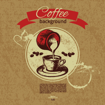coffee background retro design vector