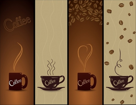 coffee advertising backgrounds classical brown cup decor
