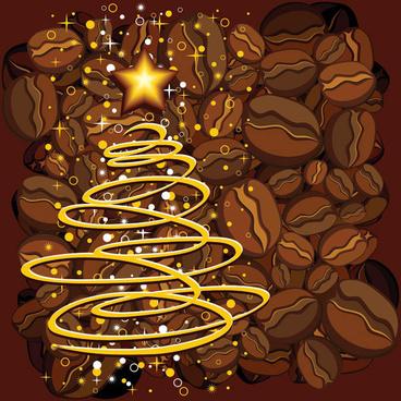 coffee bean poster design vector