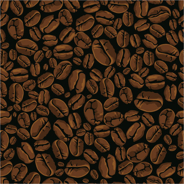 coffee beans backgrounds vector