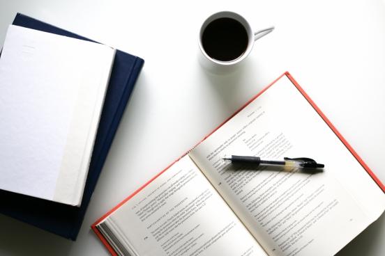 coffee books pen