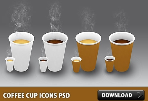 Coffee Cup Icons Free PSD
