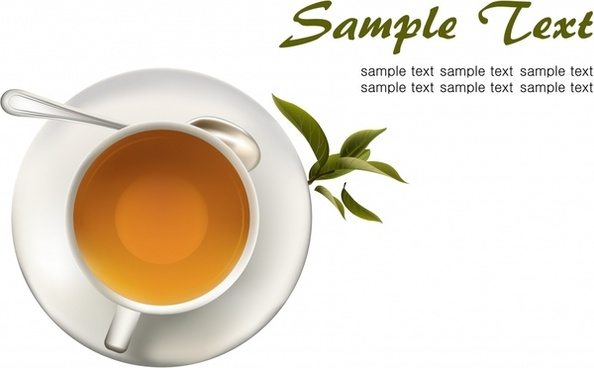 tea advertising background colored 3d realistic design
