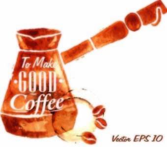 coffee elements illustration vector
