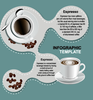 coffee elements infographics vector
