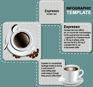 coffee elements infographics vector