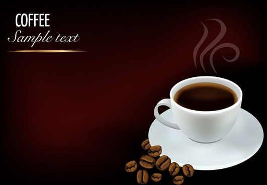 coffee advertising banner aroma cup contrast modern realistic
