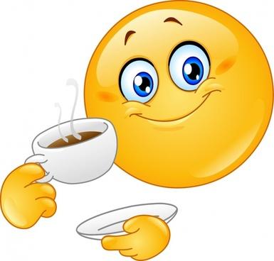 coffee advertising funny emoticon sketch