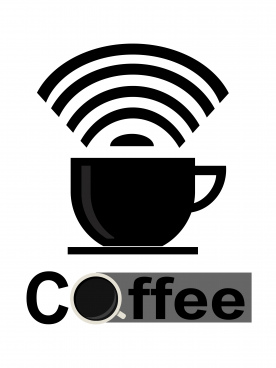 coffee for wifi logo icon