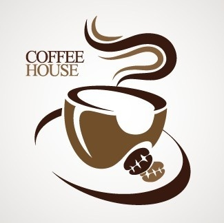 coffee house creative logo design vector