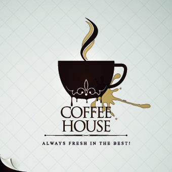 coffee house menu cover elements vector