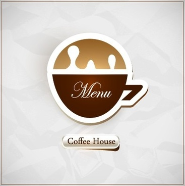 coffee house menu cover vector