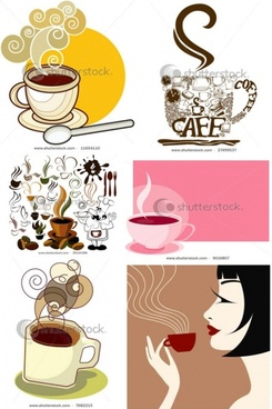 coffee icon and background vector