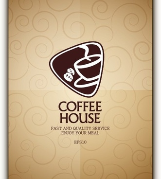 coffee menu cover design vector