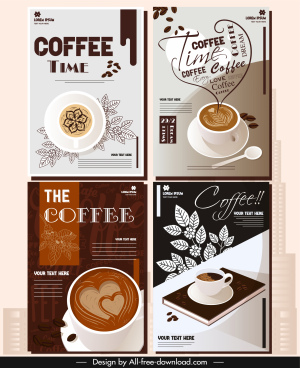 coffee menu cover templates elegant cups decor
