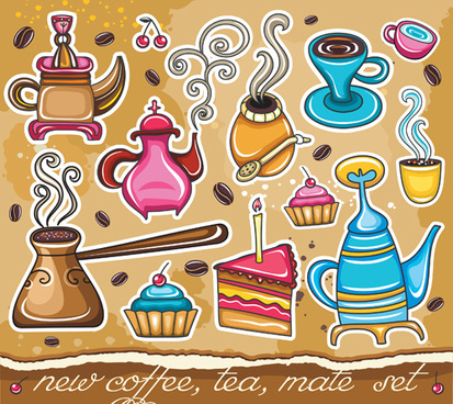 coffee object design elements vector