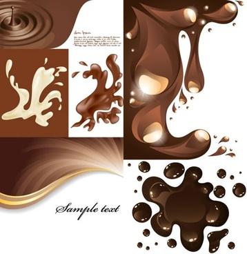 coffee background templates modern splashing liquid motion design