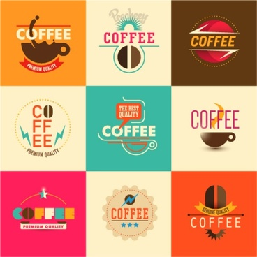 coffee stickers set