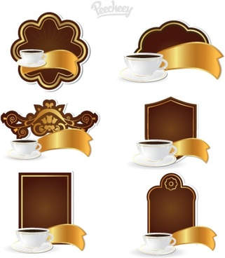 coffee tags set