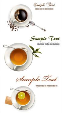 coffee tea lemon tea