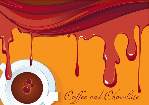 coffee background cup icon splashing liquid decor
