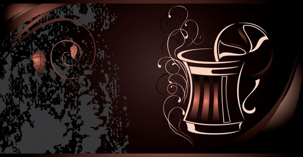 coffee advertising background dark brown grunge decor