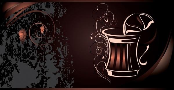 coffee advertising background dark brown grunge decor