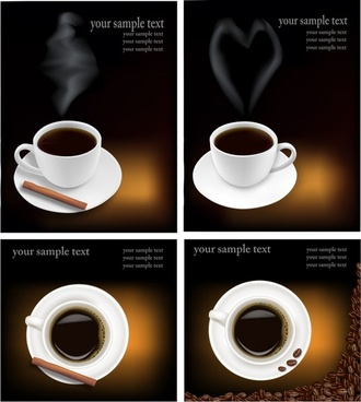 coffee advertising templates modern realistic cup decor
