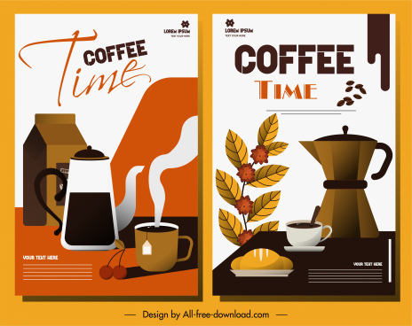 coffee time poster colored classic decor
