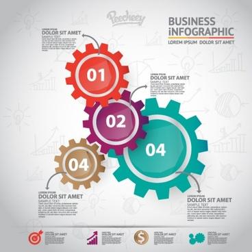 cogwheels infographics