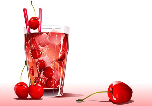 cold cherry flavors design elements