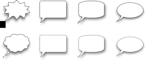 Collection of speech bubble