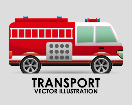 collection of transportation vehicle vector