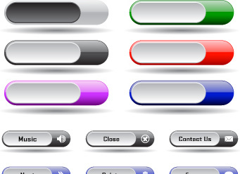 collection of web button vector
