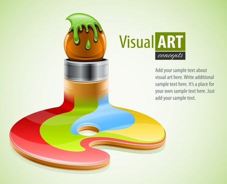 visual art background modern colorful 3d melt