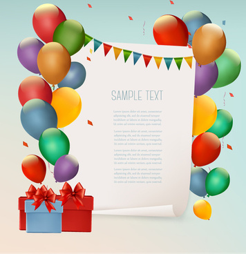 color balloon festival background vector