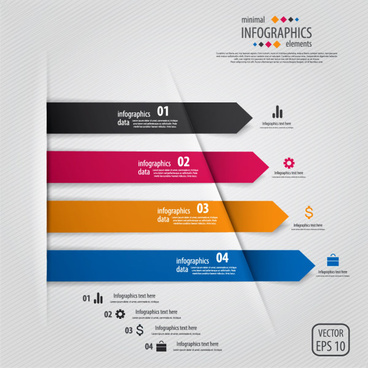 color banner numbers infographics data vector
